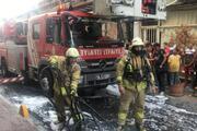 Fatihte otelde yangın paniği