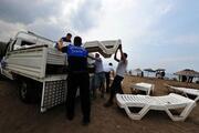 Gazinin darbedildiği kafe, çevik kuvvet ve zabıta eşliğinde kapatıldı