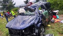Gurbetçinin otomobili takla attı: 5 yaralı