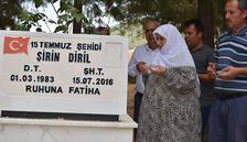 15 Temmuz şehidi Şirin Diril mezarı başında anıldı
