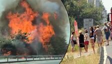 Yazlıkçılara yangın şoku