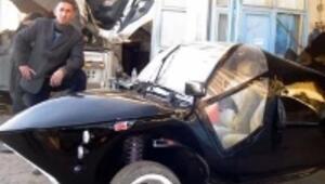 Ağrılı tamirciden Batman tarzı otomobil