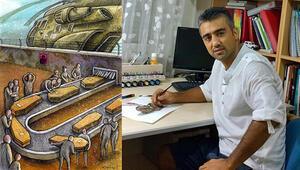 Aydın Doğan Uluslararası Karikatür Yarışmasını Antalyalı karikatürsit Zaman kazandı
