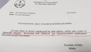 Bakırköy ve Sarıyerdeki okullarda yılbaşına yasak