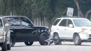 Beckham ve ailesi kaza geçirdi