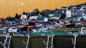 Spor salonu mültecilere ev sahipliği yapıyor