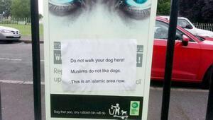 Müslümanların bölgesinde köpek dolaştırmayın