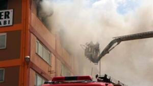 Tuzlada fabrika yangını
