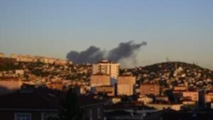 Tuzlada izolasyon fabrikasında yangın