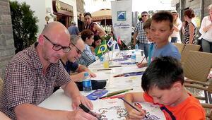 Usta karikatüristler çocuklarla buluştu