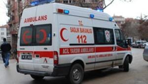 Ambulansın kapısı açılmadı
