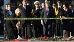Erdoğan Ankara saldırısının olduğu patlama yerinde
