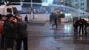 Tahir Elçinin öldürülmesini protesto eden gruba müdahale