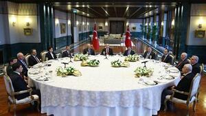Erdoğan yasama, yürütme ve yargı organlarının başkanlarıyla bir araya geldi