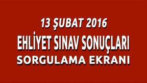13 şubat 2016 ehliyet sınav sonuçları açıklandı