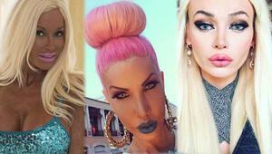 Barbie bebeğe benzemek için servet harcadılar