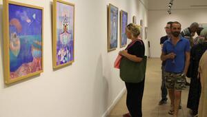 Ressam Homan'ın eserleri Ayvalıkta