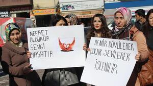 Havza'da kadın cinayetleri ve üniversite olayları protesto edildi