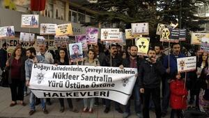 Eskişehir'de 'Nükleer' Protestosu