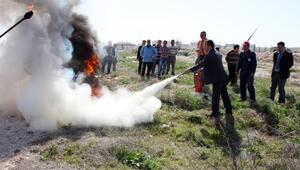 KMÜ'de Yangın Tatbikatı