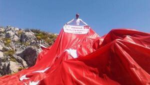 Tümkasder'den Bolu Dağı'na Dev Türk Bayrağı