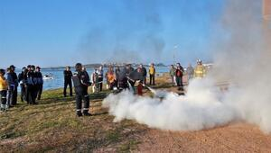 Ayvalık Belediyesinde Yangın Tatbikatı Yapıldı