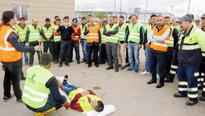 Şehitkamil Belediyesi personeline yangın tatbikatı