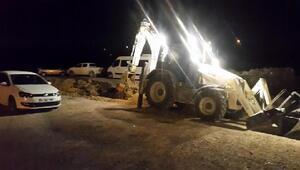 Bağlantı yolu kapatılan tesisin gece otoparkı da kazıldı
