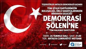 Antalyada demokrasi şöleni yaşanacak