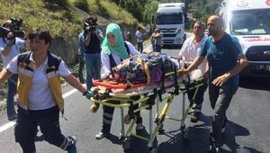 Bolu Dağında kaza, 10 yaralı