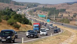 Boluda bayram trafiği yoğunluğu