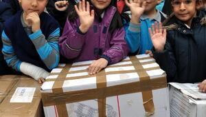 Kayserideki öğrencilerden Muştaki öğrencilere yardım