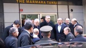 Erdoğan, taksicilerin açtığı pankarta kayıtsız kalmadı
