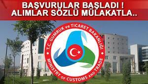 Gümrük ve Ticaret Bakanlığı 76 memur alımı başvurusu nasıl yapılacak