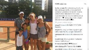 (YENİDEN) Alex de Souzadan genç tenisci Berfu Cengize destek