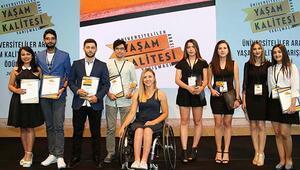 """""""Üniversiteliler Arası Yaşam Kalitesi Yarışması""""nın ödül töreni yapıldı"""