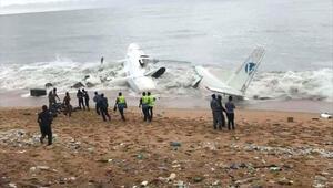 Fildişi Sahiline uçak düştü