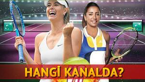 Maria Sharapova Çağla Büyükakçay tenis maçı hangi kanalda saat kaçta