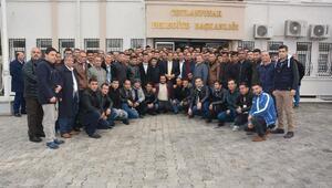 Taşeron işçilerden Başkan Atillaya ziyaret