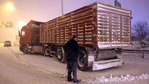 Bolu Dağında kar yağışı, ulaşımı zorlaştırdı (2)
