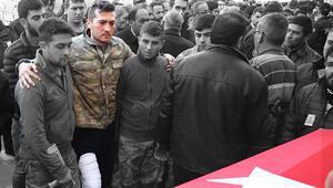 Konyalı şehidin cenazesine yaralı komutanı da katıldı