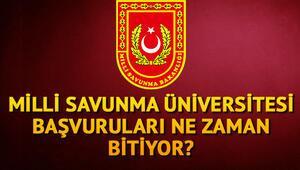 Milli Savunma Üniversitesi başvuruları bugün sona eriyor