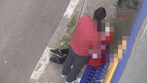 Sokak ortasında genç kızı boğmaya çalıştı
