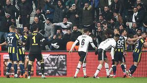 Beşiktaş - Fenerbahçe derbisinde 4 gol, 3 kırmızı kart...