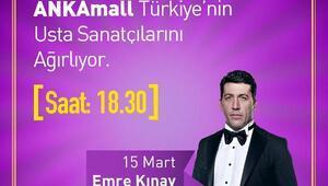 Emre Kınay ANKAmall'da Ankaralılarla buluşacak