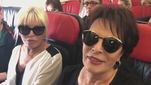 Ünlüler aynı uçakta sınıra gidiyor