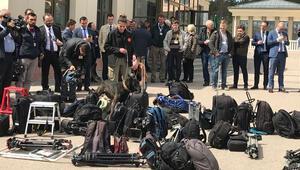 150 kişilik basın ordusuna K9lu arama