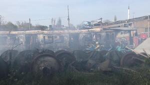 Haydarpaşa Garındaki boş vagonlarda yangın
