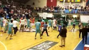 Edirne Belediyesi Edirnespor - Haliliye Belediyespor maçında gerginlik