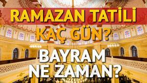 Ramazan Bayramı ne zaman idrak edilecek Ramazan Bayramı ne zaman başlıyor İşte tarih bilgisi